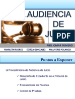 Audiencia de juicio en el proceso laboral