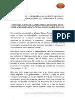LEY ESPECIAL DE LIQUIDACIÓN DEL FONDO INTERGUBERNAMENTAL PARA LA DESCENTRALIZACIÓN (FIDES)