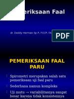 Pemeriksaan Faal Paru 2013