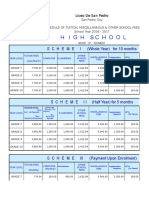 Schedule of Fees 2016-2017