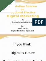 Digital Marketing - Orientation Session