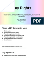 9th grade 1st semester research presentation- gay rights