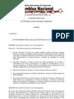 LEY DE REFORMA PARCIAL DE LA LEY CONTRA LOS ILÍCITOS CAMBIARIOS