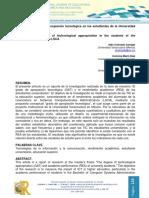 Impacto del grado de apropiación tecnológica en los estudiantes de la Universidad Veracruzana