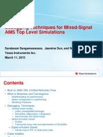 Debugging Mixed Signal AMS