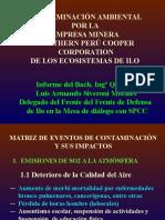 CONTAMINACIÓN AMBIENTAL POR LA  EMPRESA MINERA  SOUTHERN PERÚ COOPER CORPORATION DE LOS ECOSISTEMAS DE ILO..