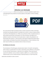 Effects of Air Pollution on Animals