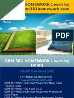 GBM 381 HOMEWORK Learn by Doing - Gbm381homework.com