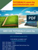 GEO 155 TUTORIALS Learn by Doing - Geo155tutorials.com