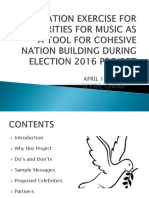Orientation Presentation for Celebrities for Music as A