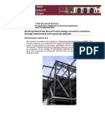 Buckling Restrained Braced Frame Design Procedure Evaluation Through Experimental and Numerical Analyses (Zsarnoczai A. 2012)