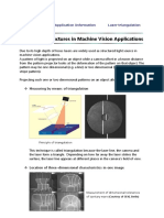 Laser Light Structures in Machine Vision Applications