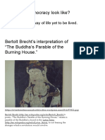 "Bertolt Brecht's Interpretation of ""the Buddha's Parable of the Burning House"