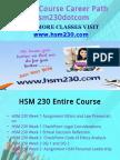 HSM 230 Course Career Path Begins Hsm230dotcom