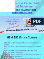 HSM 250 Course Career Path Begins Hsm250dotcom