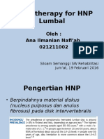 Physiotherapy for HNP Lumbal