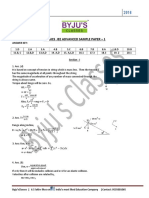 Jee Advanced Sample Paper 1key and Solutions