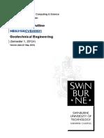 CVE40001 Sem 1, 2015 Geotechnical Eng Unit Outline RevB 2015-03-01.doc