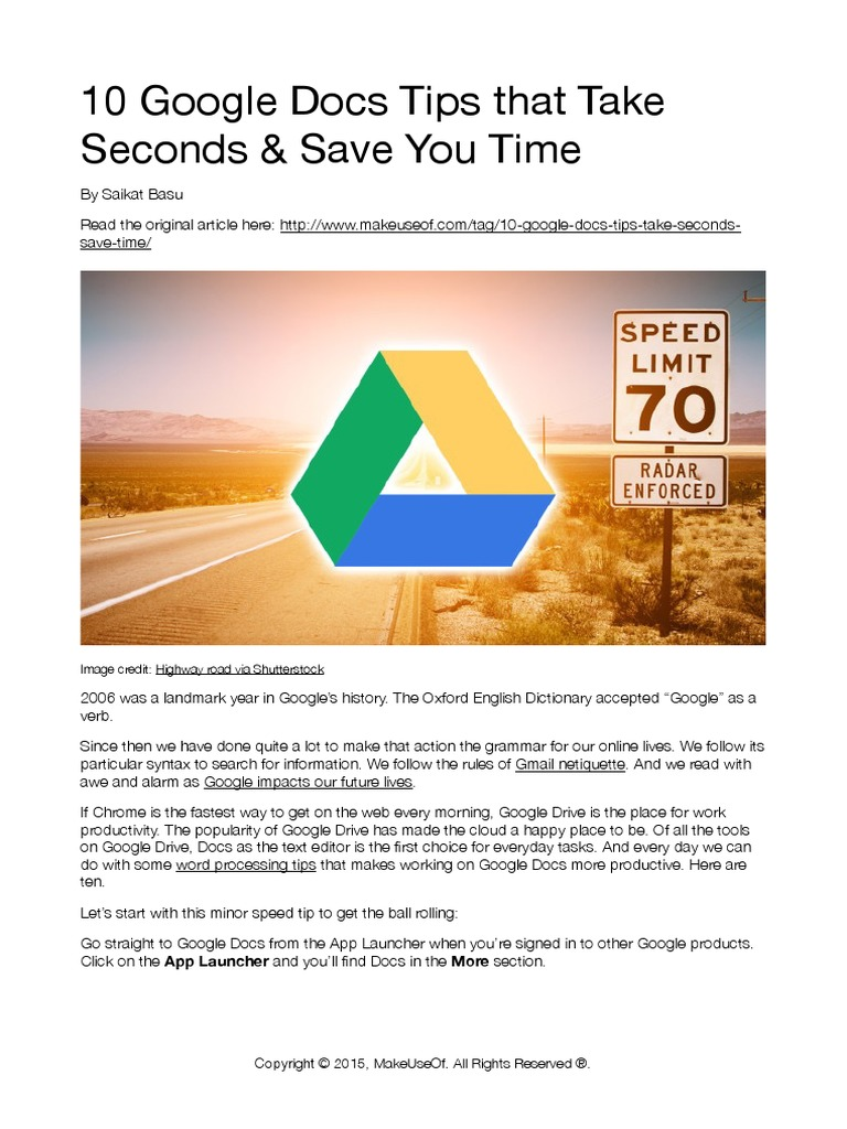 Google Docs Tips | Google | Gmail