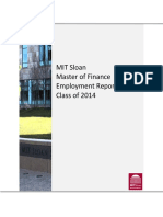 Class of 2014 MFin Employment Report