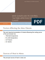 Factors Affecting the Mine Climate