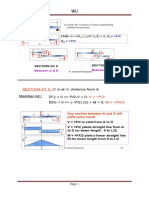 Shear Force and Bending Moment Work Sheets