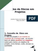 5. Análise de Riscos Em Projetos