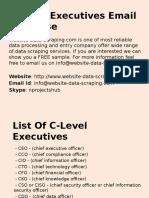 C-Level Executives Database