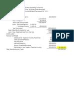 Manufacturing Statement Format