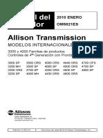 CAJA ALLISON Manual Operacion Serie 3000-4000