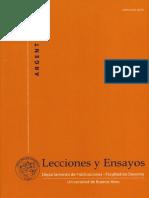 Lecciones_y_ensayos_nro_0084 - Departamento de Publicaciones de La Facultad de Derecho
