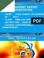 Management Presentation Slide