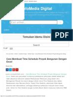 Cara Membuat Time Schedule Proyek Bangunan Dengan Excel - InfoMedia Digital