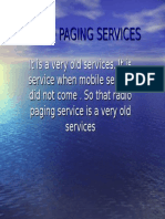Radio Paging Services