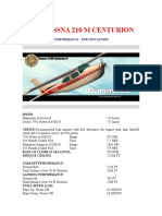 CESSNA 210 M SPECIFICATIONS.doc