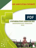 Tnau Ug Admission 2016 Information Brochure