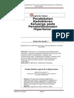 Pendekatan Kedokteran Keluarga pada Penatalaksanaan Hipertensi