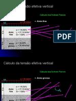 Cálculo da tensão efetiva vertical.ppt