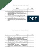 Check List Kepatuhan Skp 1