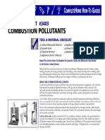 Combustion Pollutants in Your Home