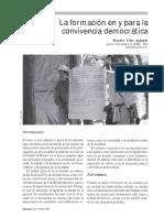 La Educacion en y Para La Convivencia Democrática