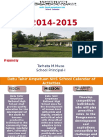 Calendar of Activities, 2014-2015