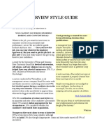 Interview Style Guide