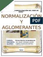 Normalizacion y Aglomerantes