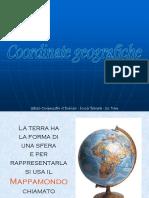 Le Coordinate Geografiche