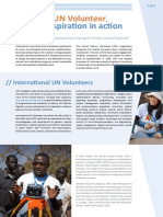 UN Volunteer Profile International UN Volunteers Web