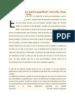 Una Carta Entre Tantos Papelitos, Juan Acevedo