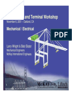 Dockside Container Crane Workshop Mechanical