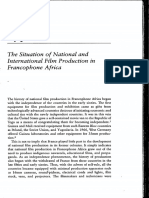 The Situation of National and International Film Production in Francophone Africa