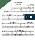 Habanera Carmen - Piano 1